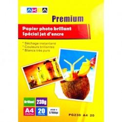 Grossist'Encre Papier Photo Brillant A4 20 Feuilles