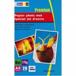 Grossist'Encre Papier Photo Mat A6 20 Feuilles