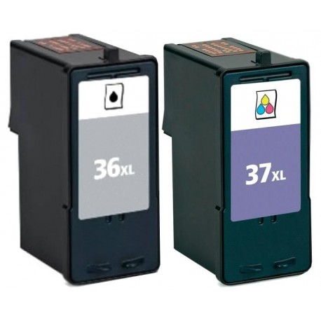 Grossist'Encre Cartouches compatibles LEXMARK Pack n°36XL + n°37XL