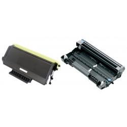 Grossist'Encre Cartouche Lot de 2 Cartouches Lasers (Toner + Tambour) Compatibles pour BROTHER TN3280 & DR3200