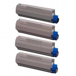 Grossist'Encre Cartouche Lot de 4 Cartouches Toners Lasers Compatibles pour OKI C5650 BK/C/M/Y