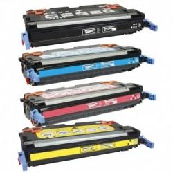 Grossist'Encre Cartouche Lot de 4 Cartouches Toners Lasers Compatibles pour HP Q6460A + Q6461A + Q6462A + Q6463A