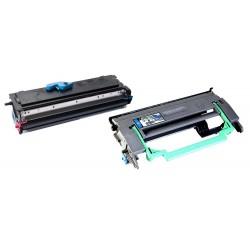 Grossist'Encre Cartouche Lot de 2 Cartouches Lasers (Toner + Tambour) Compatibles pour EPSON EPL6200